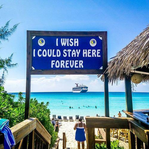 Oh, the wishes... Sand & Sea Sand Bahamas Beach HalfMoonBay DreamVacation Cruise Sea Carnival Beach Onepluslife Oneplustech