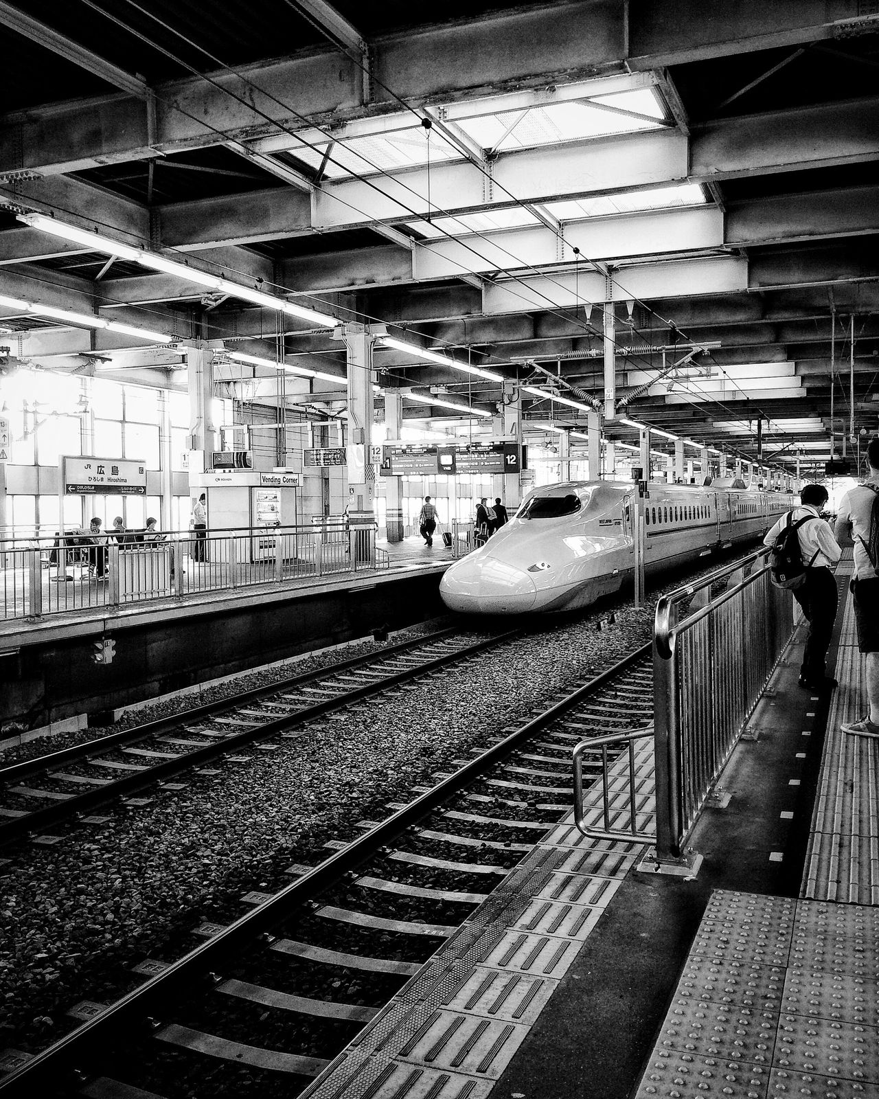 Bullet train. Transportation Railroad Track Railroad Station Railroad Station Platform Indoors  Day Architecture Travel Destinations Mobile Photography Mobilephotography Youmobile Shootermag NEM Street
