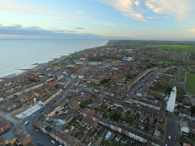 Withernsea Drone  Dronephotography From The Air Altitude East Yorkshire