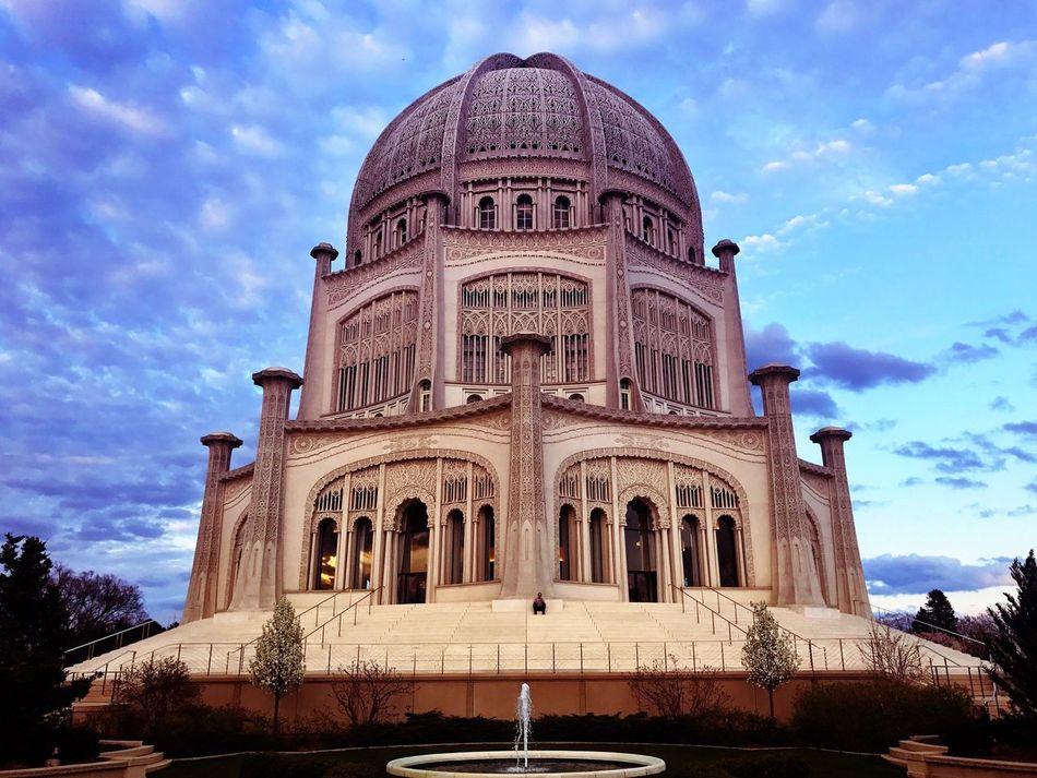 Transcending the Urban Architecture Built Structure Cloud - Sky Sky Low Angle View Building Exterior History Outdoors Travel Destinations Bahaigardens Bahai Temple