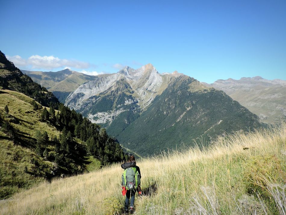 Mountain Mountain Range Nature Beauty In Nature One Person Outdoors Travel Destinations Landscape OpenEdit Landscape_Collection Tree Nature Miles Away Randonnée Pyrenees National Park