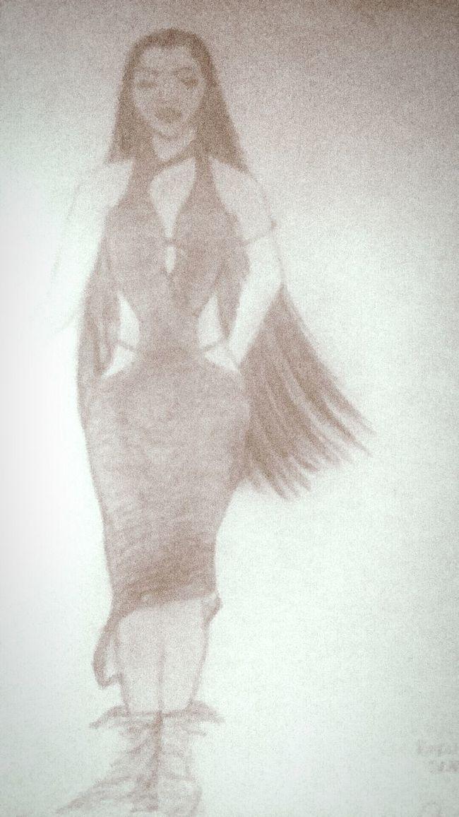 Hi! FashionDesigner Selfportrait Sketch Pencil Inspiration Bathingsuitcovers Sundress ArtWork Heresanotherone Artist RoughDraft