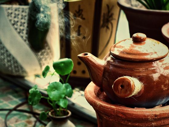 Teapot Indoors  Close-up No People Table Food And Drink Tea - Hot Drink Day Stove Healthy Eating Freshness