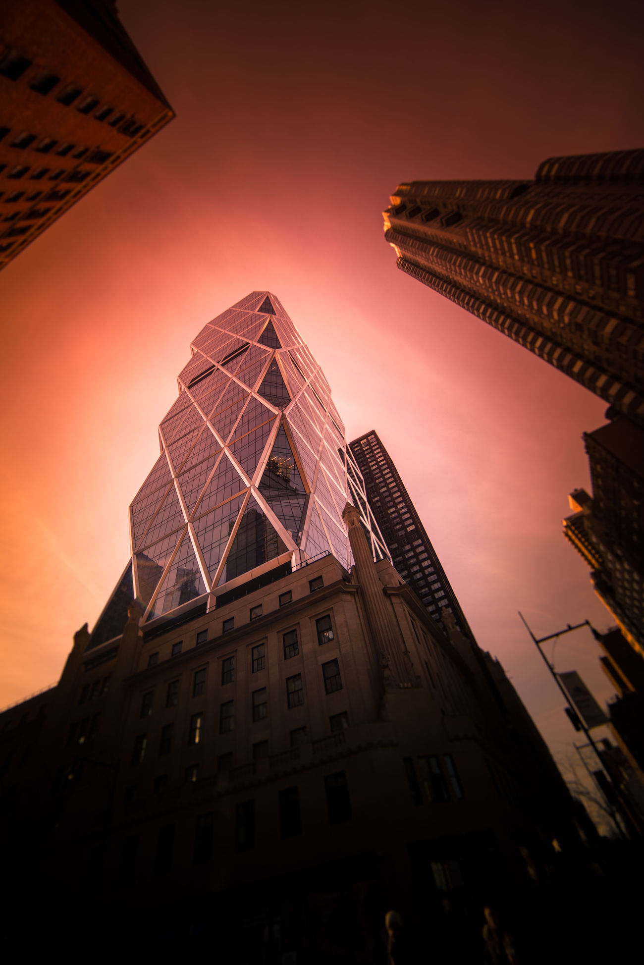 Rise Architecture Building Exterior Built Structure City Cityscape Day Hot Low Angle View Modern No People Outdoors Sky Skyscraper Sunset Tall Tower Travel Destinations