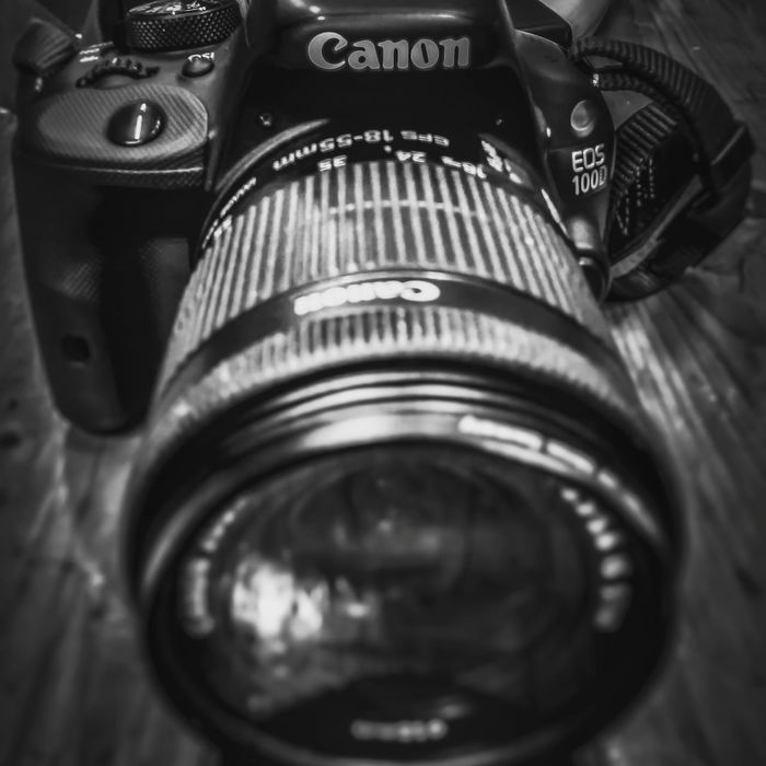 No Caption Photography Themes Camera - Photographic Equipment Technology Close-up Indoors  No People Old-fashioned Film Industry Movie Camera SLR Camera Digital Single-lens Reflex Camera Day Canon 100D Art Imaging Editing