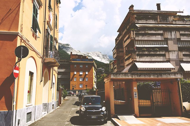 EyeEm Selects First Eyeem Photo Architecture Buildings Car Street Town Mountain Marmer Carrara Yellow Paint The Town Yellow Been There. Done That. Lost In The Landscape EyeEmNewHere Moody Fall Colors Perspectives On Nature
