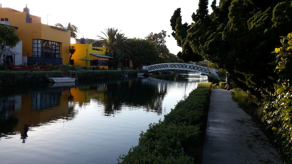 Venice Canals, CA Sunset Watercanal Quiet Places Los Angeles, California