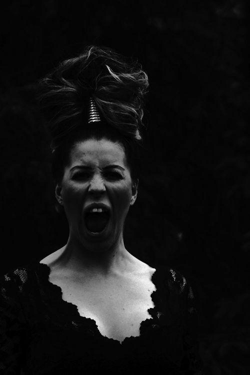 Scary beautiful B&W Portrait Black & White Portrait Monochrome Portrait Of A Woman EyeEm Best Shots - Black + White