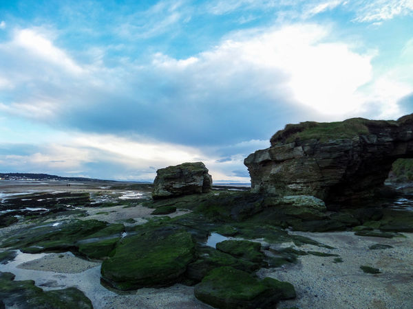 Beach Beauty In Nature Blue Sky Cloud - Sky Day Hilbre Island Nature No People Outdoors Rock - Object Sandstone Sandstone Rocks Scenics Sea Sky Tranquil Scene Tranquility Water Wirral Wirral Peninsula Wirralcountrypark