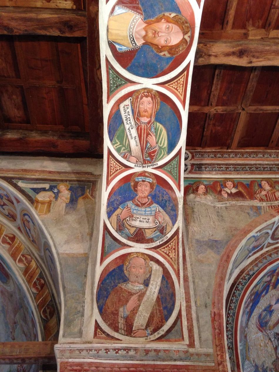 Fresco in blue, Church San Carlo in Negrentino Architecture