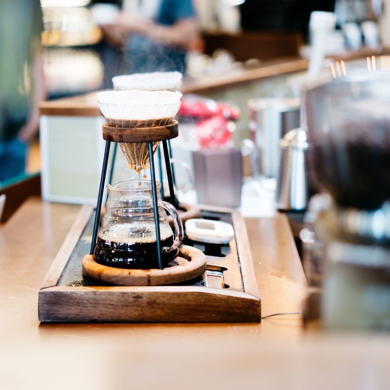 Coffee at my favorite cafe in Berkeley. Table Indoors  Still Life Selective Focus Arrangement Collection Freshness Focus On Foreground No People Coffee Drip Cafe Pour Wait Slow Hipster Gluten Free