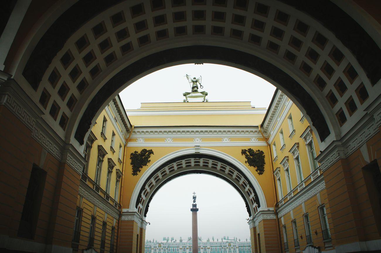 Санкт-Петербург Питер дворцоваяплощадь арка зима
