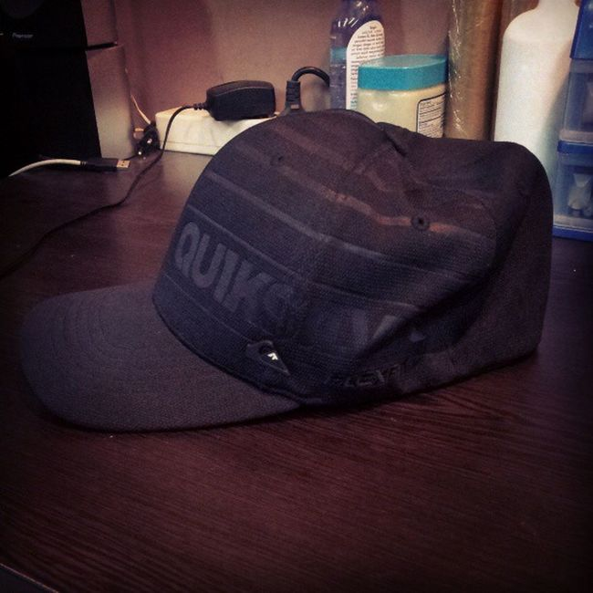 Thx for the hat Hat Beach Quicksilver Builtup present gift planetsurf outfit blackhat black