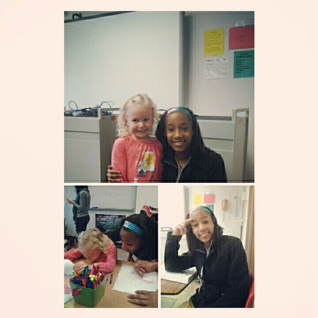 Me and ceila in class today ! (mrs kuffners daughter)