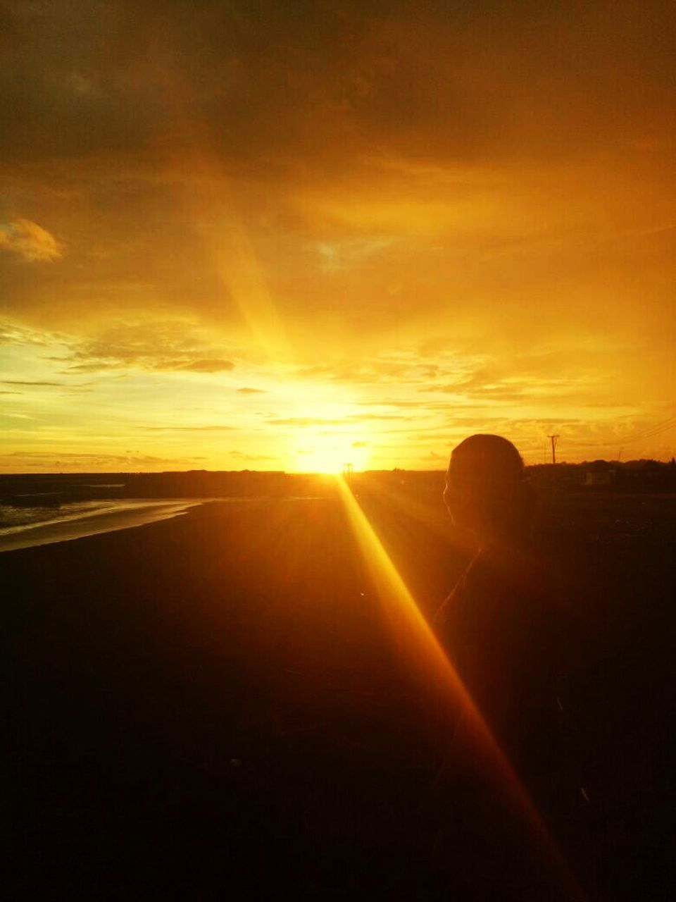 sunset, sun, sunbeam, silhouette, sunlight, nature, sky, cloud - sky, scenics, outdoors, beauty in nature, one person, people, day