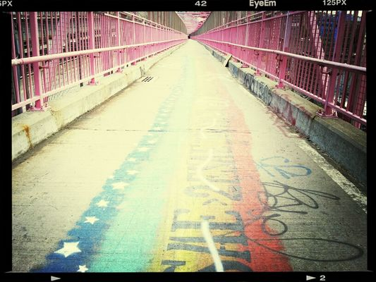 Taking Photos at Williamsburg Bridge by A'alon Dawson