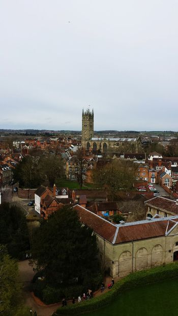 Photo taken from of towers called Guy Tower at warwick castle you can see the church in the distance Hello World Taking Photos Hanging Out Nice Views