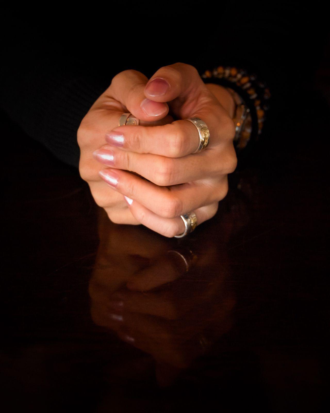 Human Hand Hand Fingers Fingernail Ring Reflection