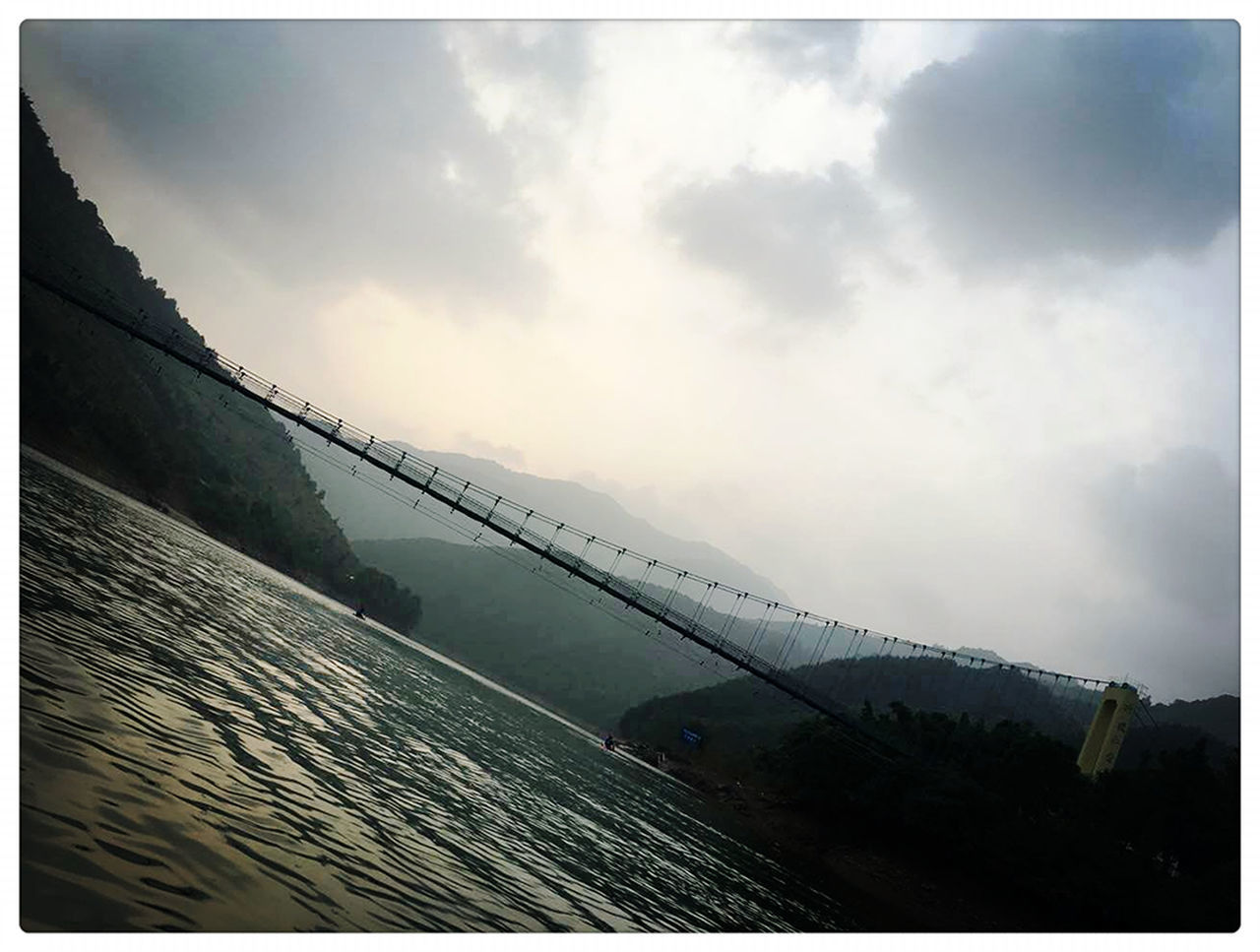 auto post production filter, water, sky, outdoors, no people, connection, day, bridge - man made structure, nature, built structure, architecture, sea, beauty in nature, panoramic, scenics