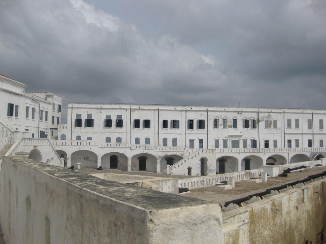 Architecture Built Structure Cape Coast Cape Coast Castle Cloudy Geometry Ghana Historic Overcast