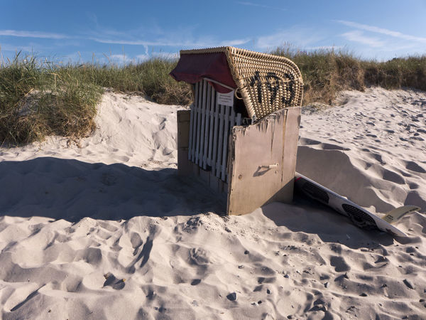 Baltic Sea Beach Beach Chair Beauty In Nature Day Heidkate Holydays Hooded Beach Chair Kiel Leisure Nature No People Outdoors Sand Sand Dune Sea Shadow Sky Strandkorb Summer Summertime Sunlight Tranquil Scene Vacations Water