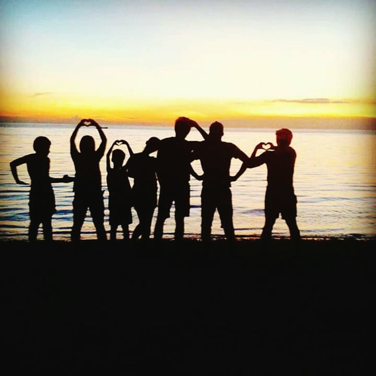 FamilyIsHeart Family Love Contentment Cousins  Nature Beach Awesome Real Sunset Travel Together Forever