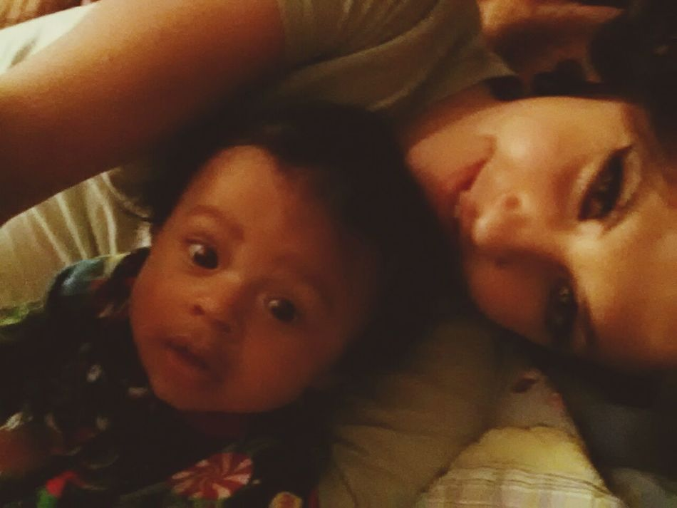 Mommy baby love 4.5 Months Old My Mini Me <3 Always&Forever<3 Cuddling Best Baby My Love❤
