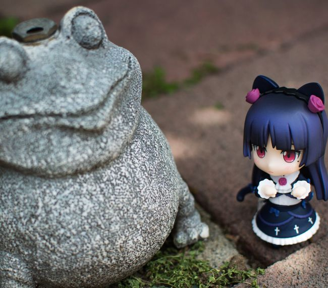 Nya~! Giant frog spotted nya~! Nendoroid Nendophotography Goodsmilecompany Kuroneko Toyphotography Figurephotography Animefigure First Eyeem Photo