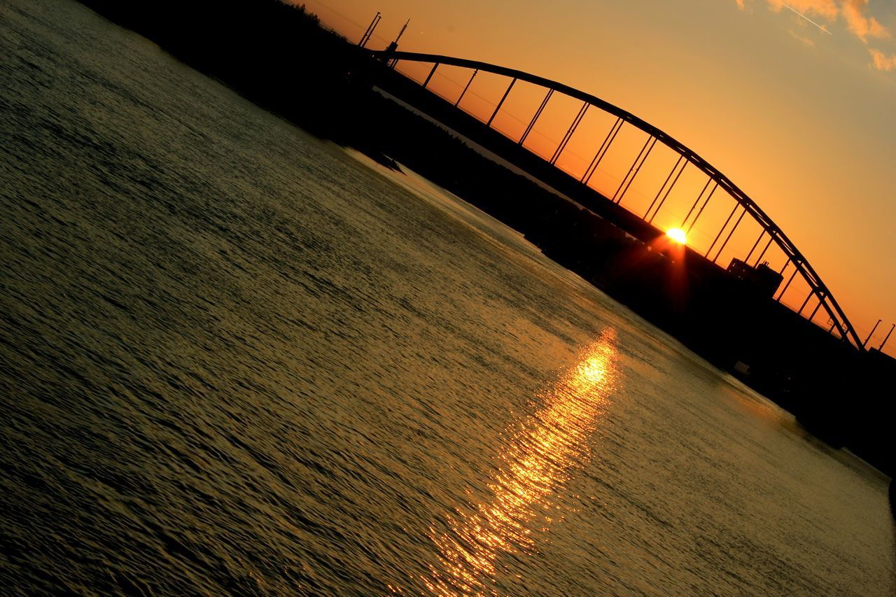 Sunset Bridge View Bridge Rajna Water Shiplife