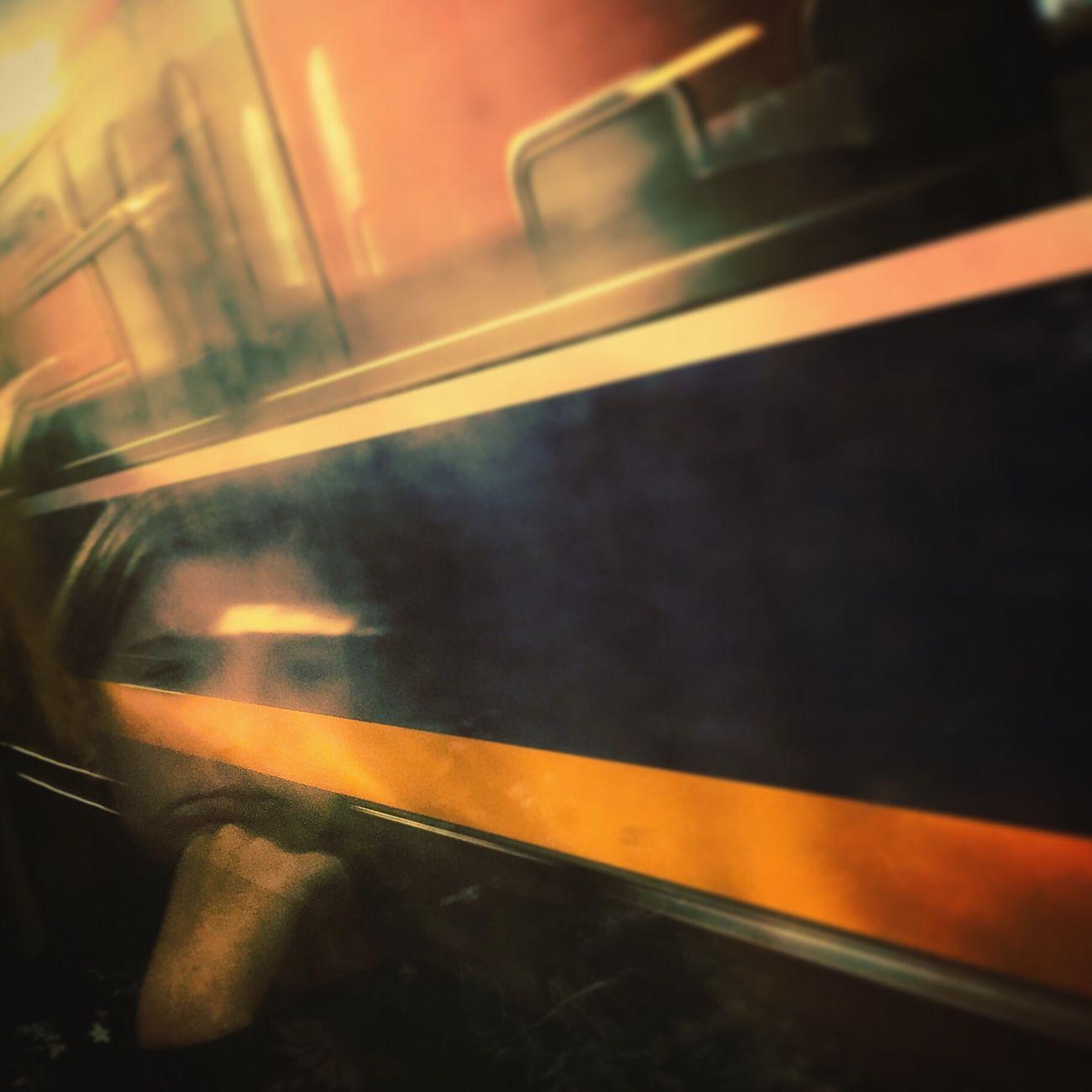 meine Tochter Gedankenverloren auf dem Weg nach Hause. One Person Transportation Close-up Real People Lovely Tochter Gedanken * Gedankenverloren <3 Reisen Moody Moodygrams Art, Drawing, Creativity First Eyeem Photo