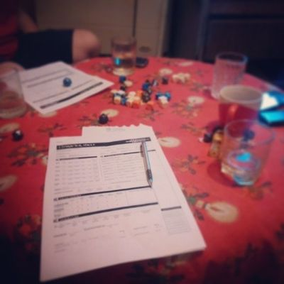 Game day! Dnd fight