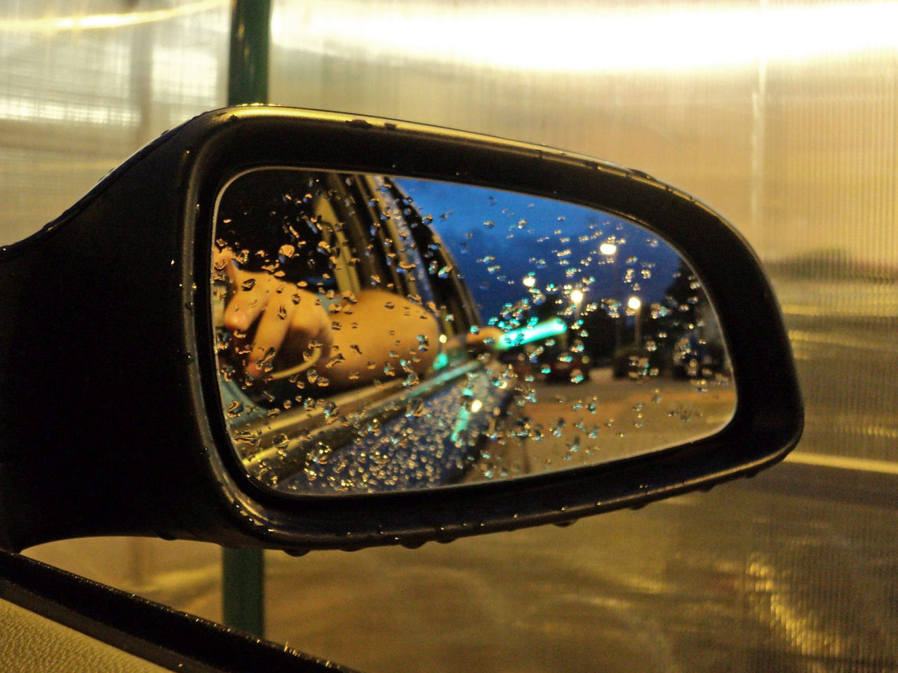 Moody reflection in side view mirror Car Close-up Mirror Moody Rain Rearview Mirror Rearviewmirror Reflection Side-view Mirror