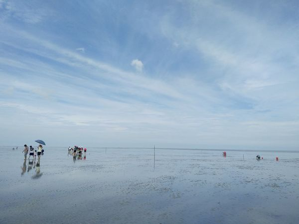 Nature Beach Beauty In Nature Blue And White Sky Horizon Over Water Scenery Sea Sky Mirror