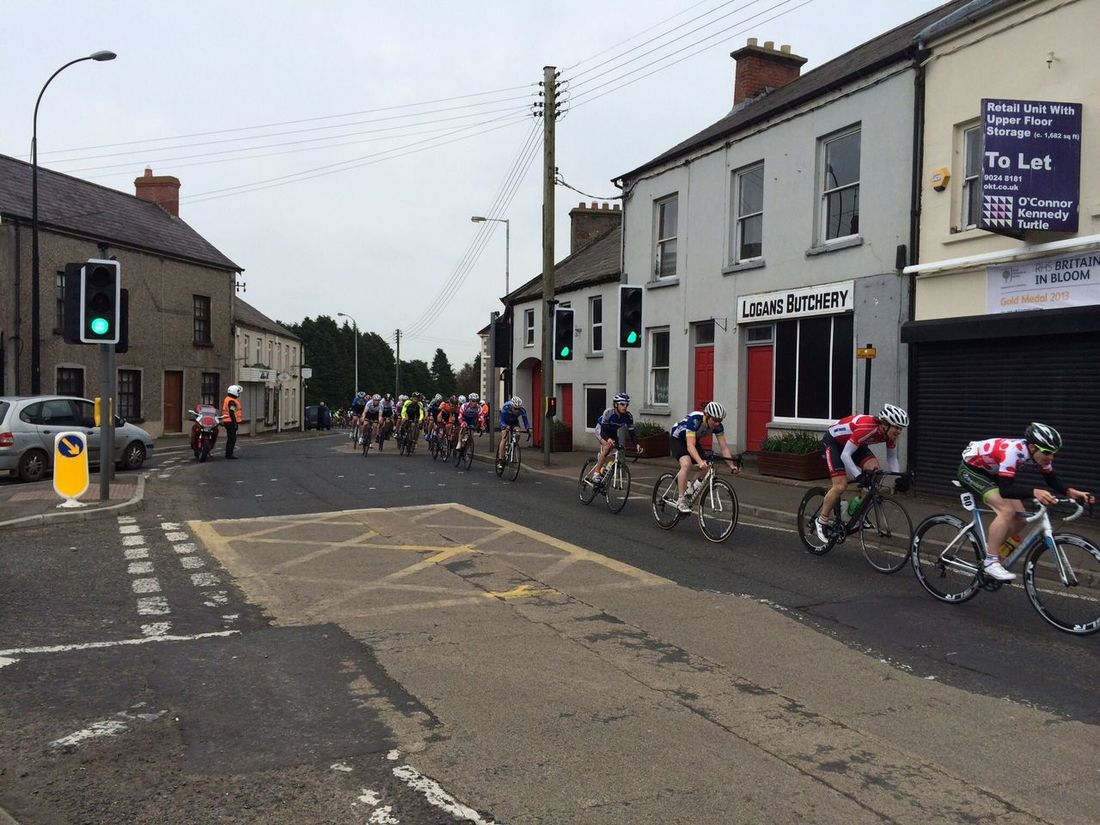 Tour of the North coming through the village yesterday Cycling Time For A Race Ahoghill