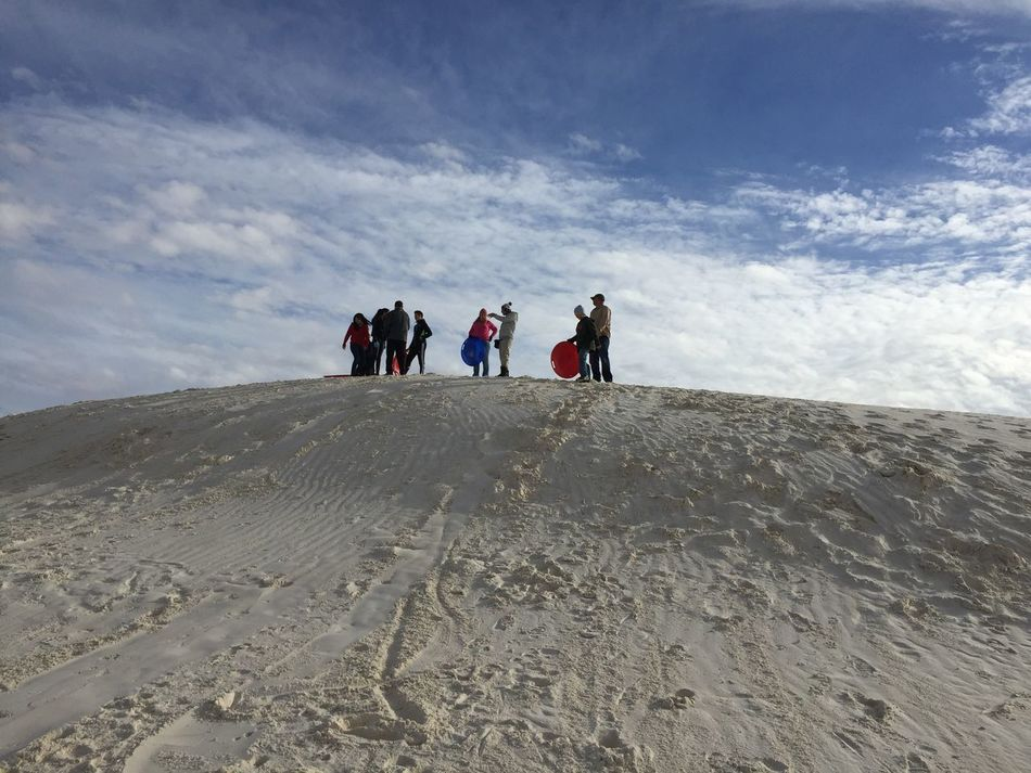 Sledding Sledding Sky And Clouds New Mexico White Sands National Monument White Sands White Sand Outdoors Friends New Mexico, USA New Mexico
