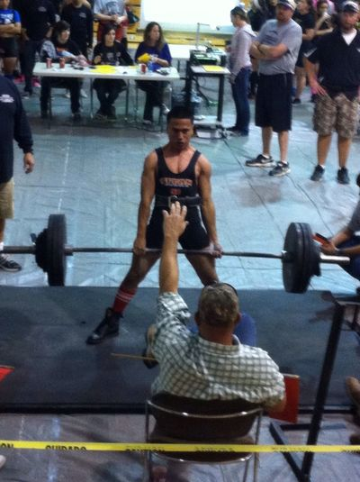 My little brother dead lifting 410 #beast #mode #state #here #we #come #proud #sister ❤❤❤