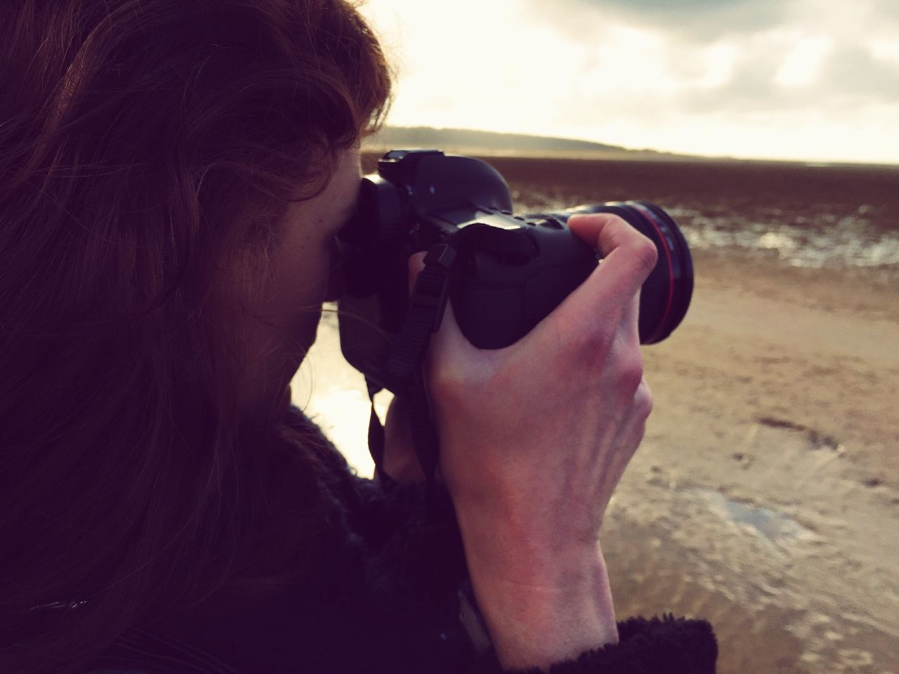Photographer Snap Beach Landscape Openess Taking A Picture Sea Sky Clouds Individuality Click Golden Hour Passionate Photography Life Through A Lens