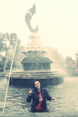 Happy birthday at alun-alun purwakarta by adzalea satrifi anggreini