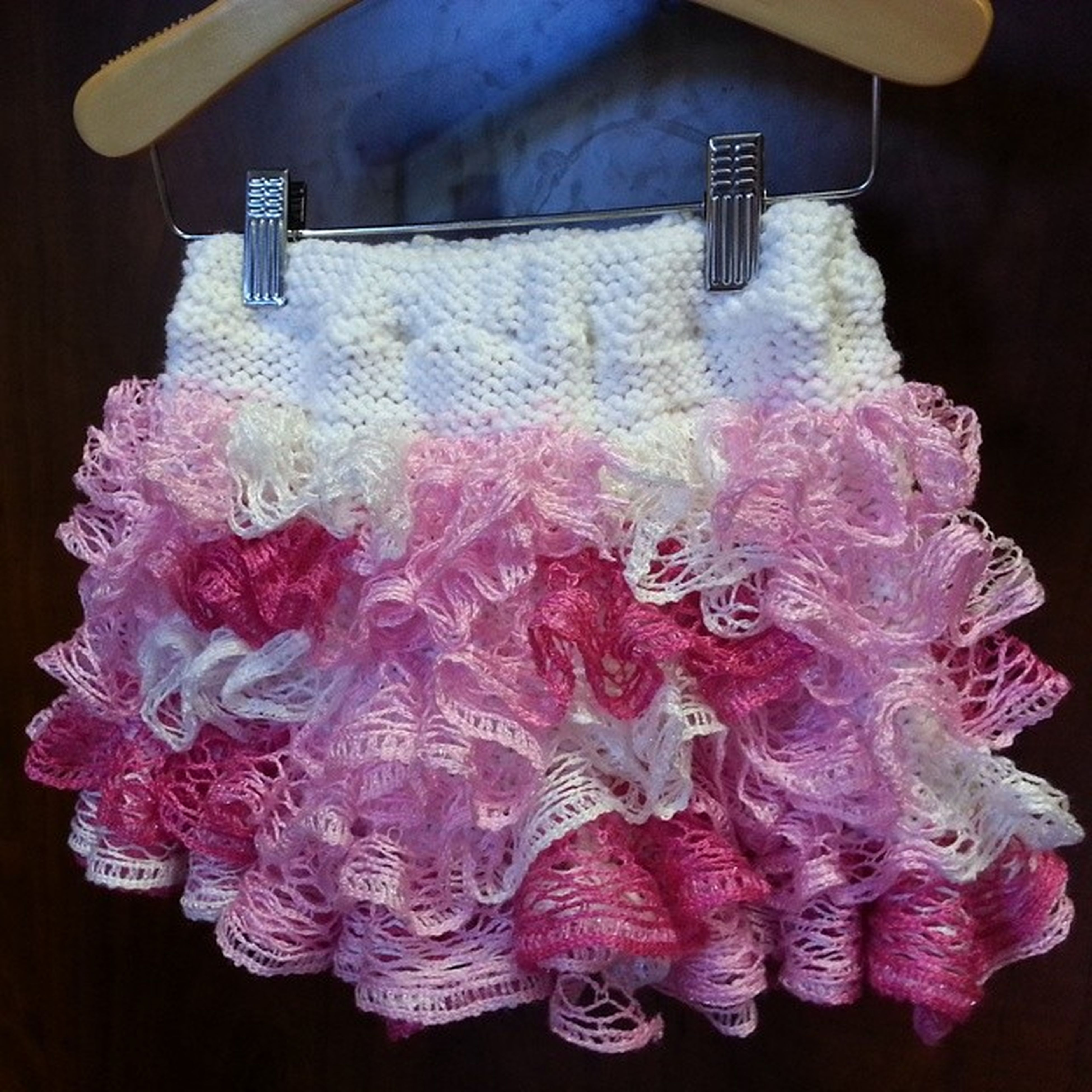 Here is one of our newest skirts. These are hand knit right here in our shop! LilyKate Newproductalert Ruffles Knit sashay