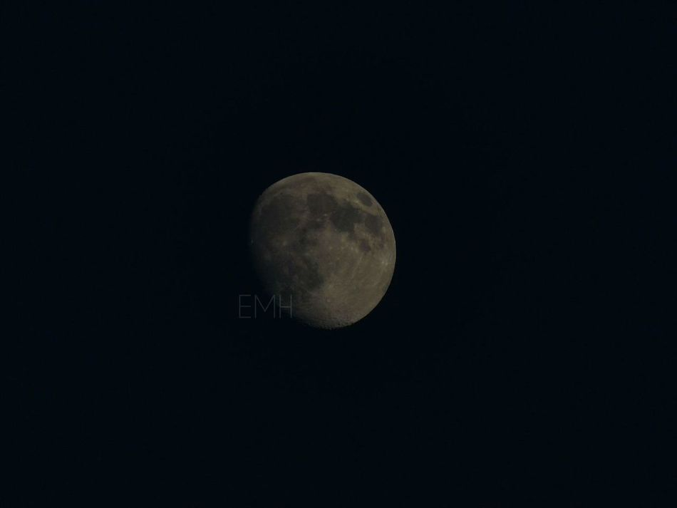 Lune Moon Night Sky Details Luna Cielo Noche