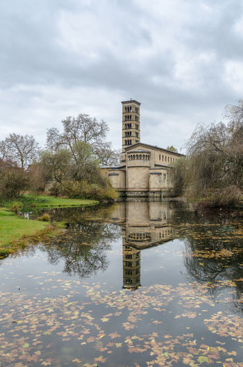 Friedenskirche in Park Sanssouci, Potsdam Architecture Building Exterior Church Cloud - Sky Day Fall Fall Beauty Fall Leaves First Eyeem Photo Friedenskirche Kirche Lake Nature No People Outdoors Potsdam Potsdam Park Sanssouci Reflection Reflection Lake Sky Travel Travel Destinations Tree Water