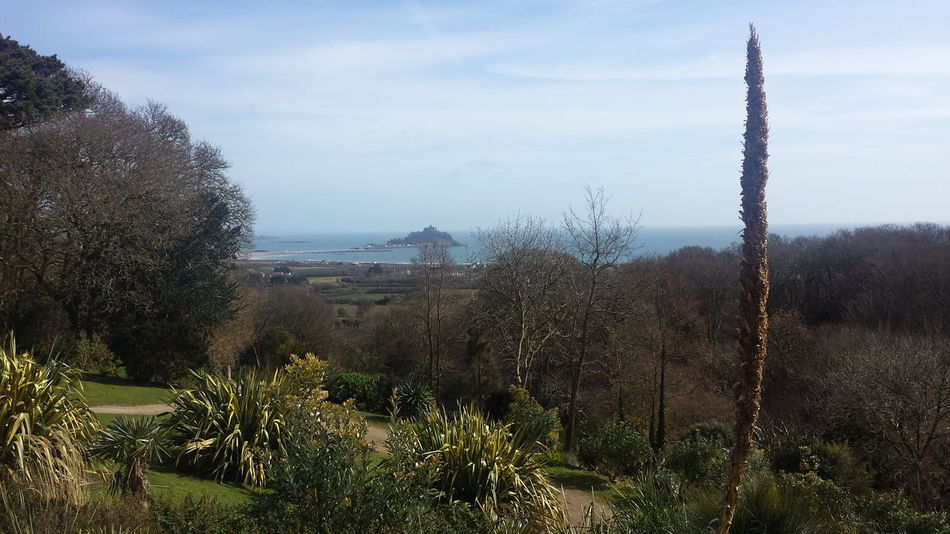 Architecture Building Exterior Built Structure Cornwall Day Garden Landscape Nature Outdoors Penzance  Sculpture Sea Sky Sky And Clouds St Michaels Mount Tree