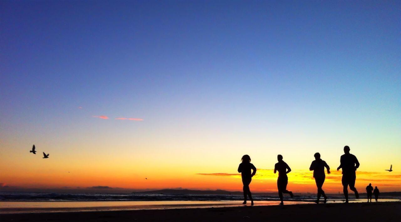 Beautiful stock photos of running, Beach, Dawn, Exercising, Freshness