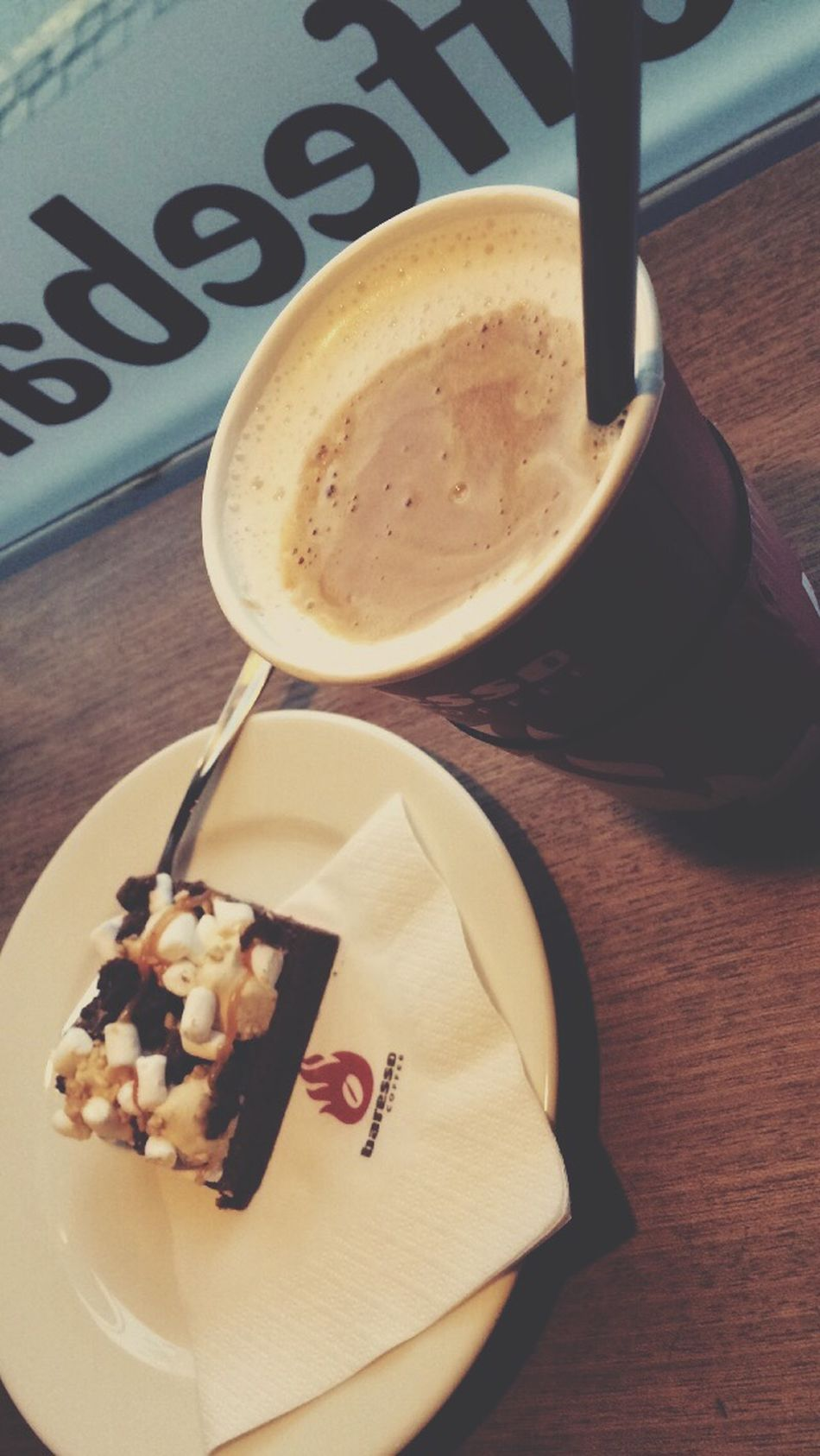 Brownies Salted Caramel Latte The Best Coffe Ever Baresso Copenhagen Relaxing Some Sweet Denmark Wintertime