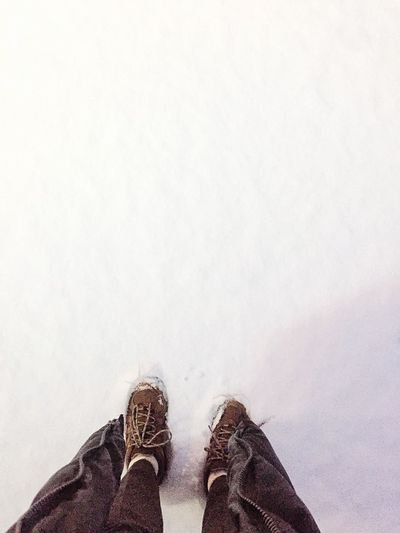 Snowy Snow Snowing Feet On The Ground Feet Shoes Today Outdoor Winter First Step