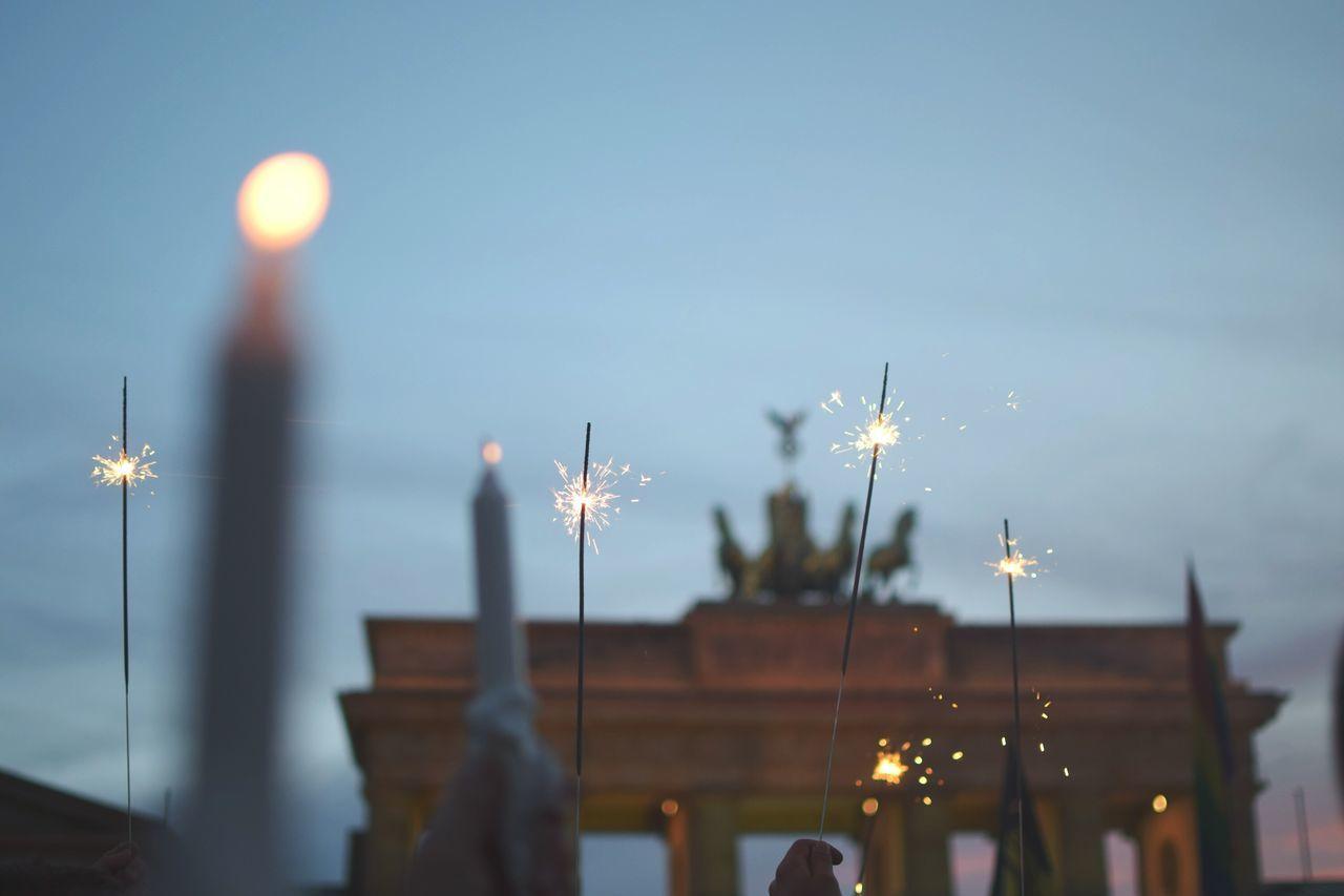Night lights. Lighting Equipment Sky Brandenburger Tor Lgbt Orlando Vigil Illuminated Hands In The Air Capture Berlin