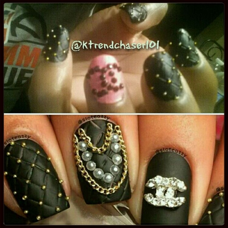 I did a Recreate of this Naildesign Chanel Inspired Beauty