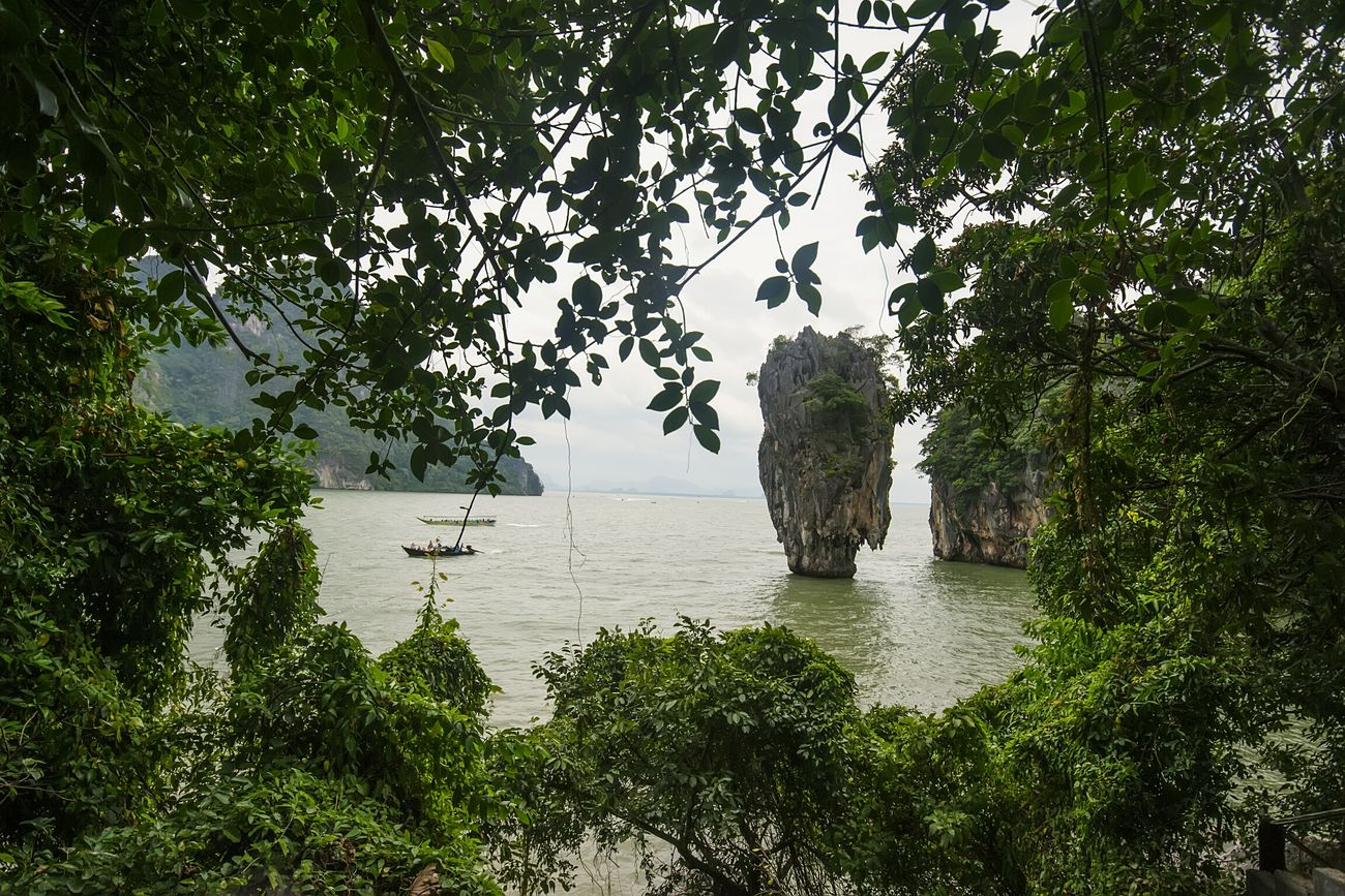 Beauty In Nature James Bond Island Phang Nga Bay Thailand James Bond Outdoors Thailand_allshots Thailand Photos Thailandtravel Beach Nature Vacations Landscape Nature_collection Green Color Nature Water Sea Tree No People Day Landscape_photography Landscape_Collection