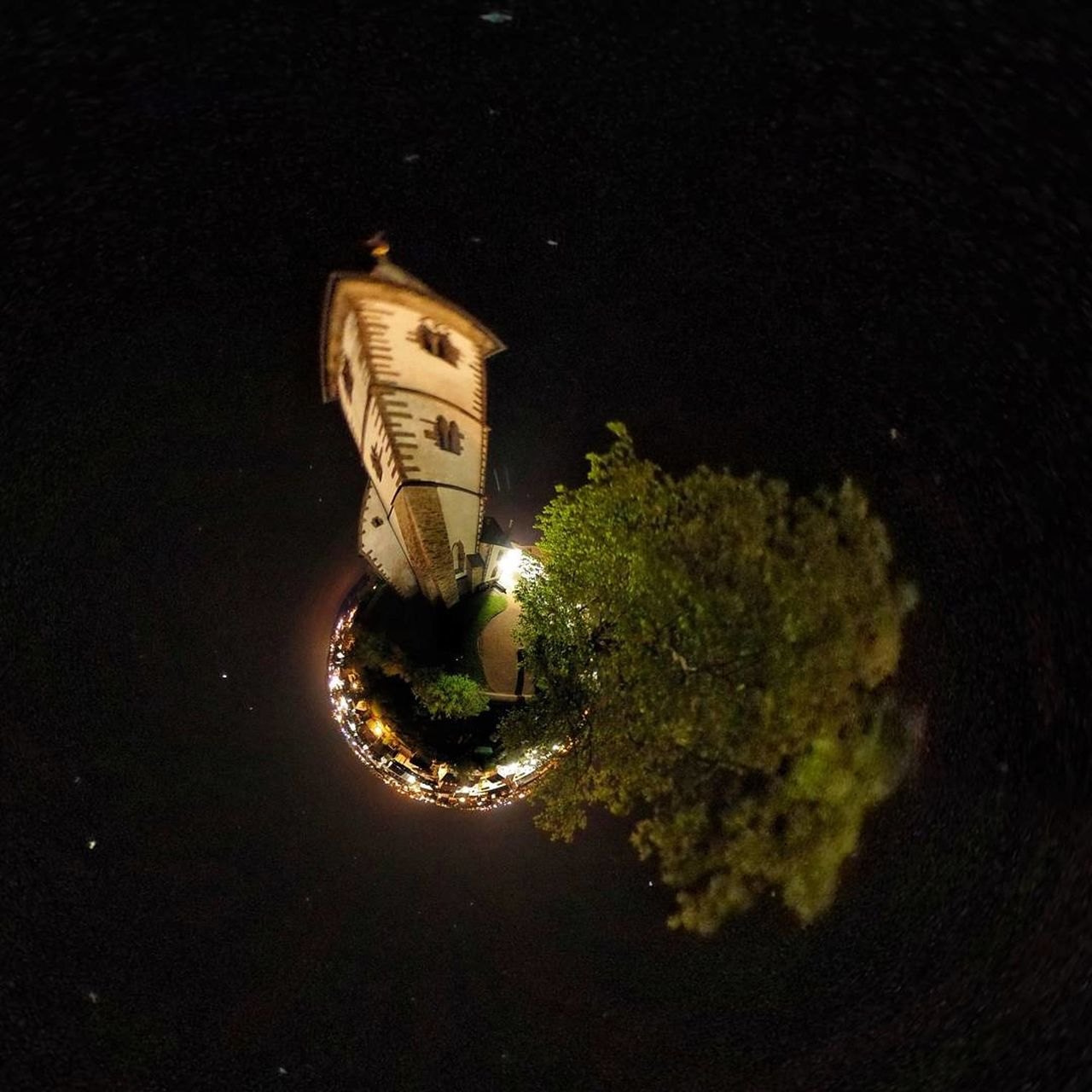 Night Outdoors No People Illuminated Water Sky Astronomy Miniplanet MiniPlants Ricohthetas Ricohtheta Ricoh