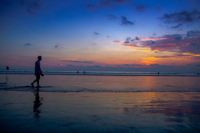 The beautiful ocean in Indonesia Clouds INDONESIA Island Ocean Ocean View Sunset Tranquil Scene Tranquility Vacation Water